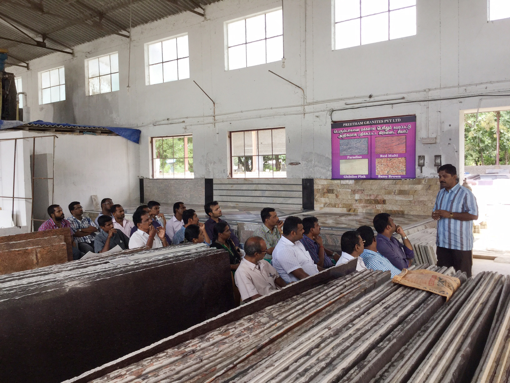 Factory Visit To Preetham Granites Pvt Ltd Granite Block