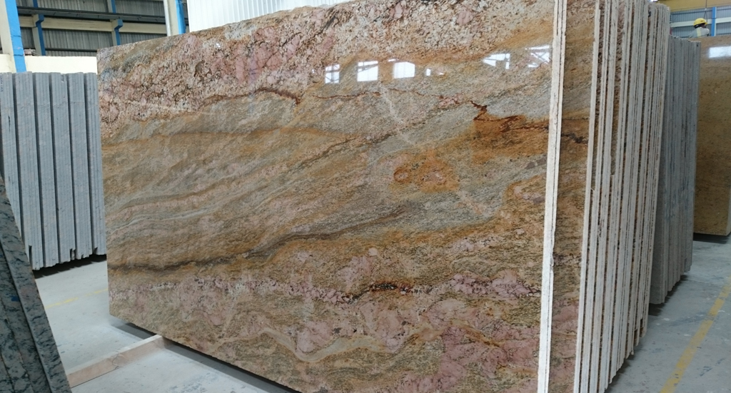Golden Granite Slab Countertops : Imperial gold granite slabs block suppliers
