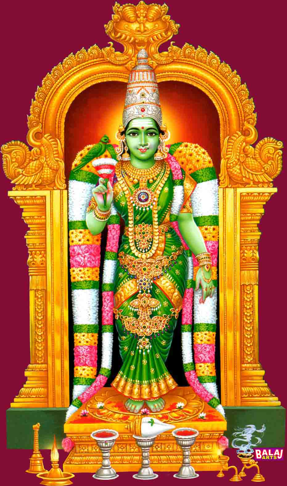 Image Galleries For Lionaid Campaigns: Ruling Deity Of Madurai The Great Meenakshi Amman