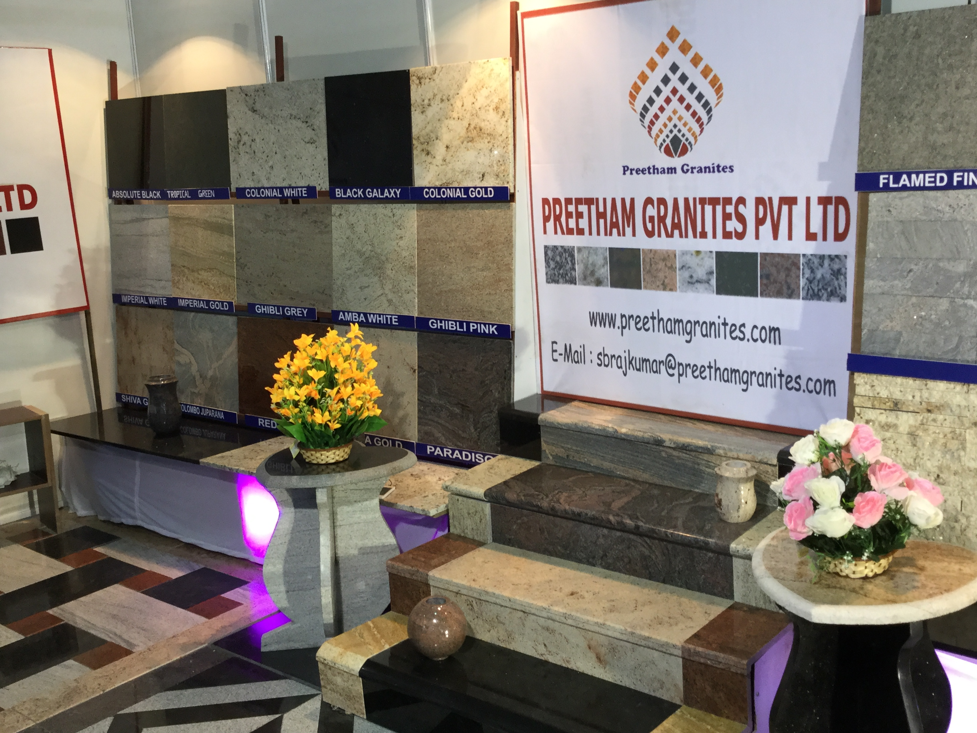 Exhibition Stall Suppliers In Bangalore : Preetham granites pvt ltd our stall at one of the largest