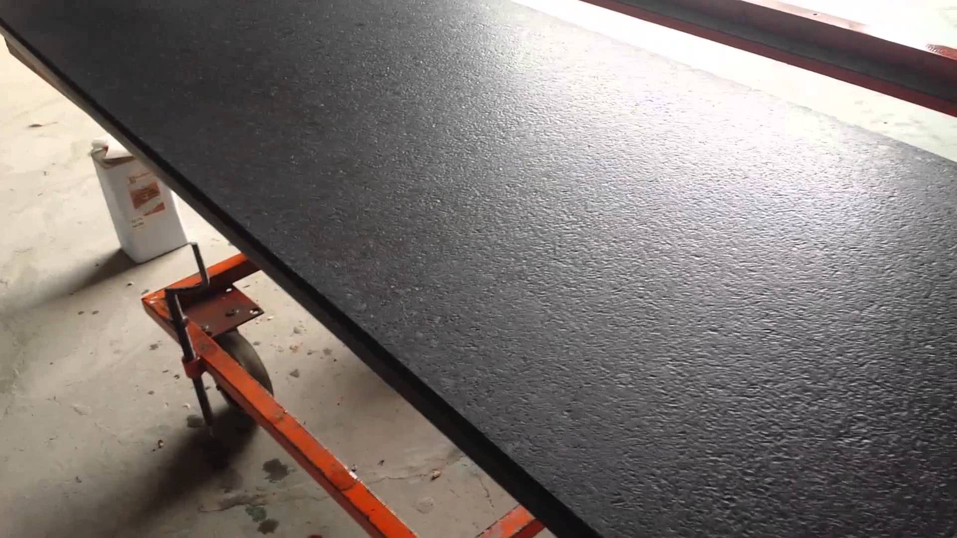 Leather Finish Process In Granite Slabs